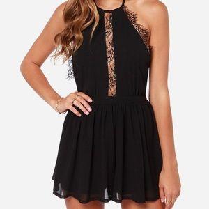 Lulu's Black Lace Romper